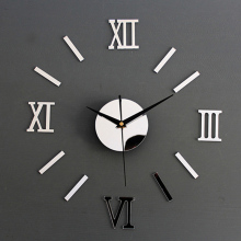 Hot 3D Home DIY Mirror Design Wall Clocks Home Decor Decal Stickers Wall Clock  Best