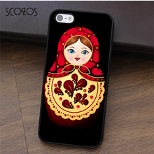 SCOZOS Matryoshka Russian Nesting Dolls phone case for iphone X 4 4s 5 5s Se 5C 6 6s 7 8 6&6s plus 7 plus 8 plus #fa413(China)