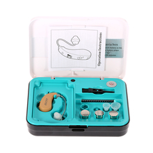 Mini Sound Amplifier Behind Ear Hearing Aid With UV Anti Bacteria Box Volume Control High-Low Tone Hearing Aids Care Earplugs