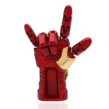 2017 Usb Flash Drive Fashion Cool Iron Man Hand Palm-LED 16g U Disk Memory Usb Stick Pen Drive Pendrive PC