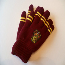 winter warm Harry Potter glove unisex Thickened double layer knitted wool gryffindor gloves
