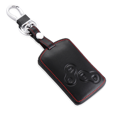 Genuine Leather Car key cover case protector Sticker for Renault Clio Logan Megane 2 3 Koleos scenic card remote keyless