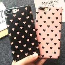 Buy Korea Fashion Heart Soft Phone Cases iPhone 7 7Plus Fundas iPhone 6S 6 Plus Lovely Full protect Frosted Back Cover case for $2.99 in AliExpress store
