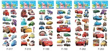 200 sheets /lot Super Cartoon 3D Puffy Stickers Children Cars 7*17cm Early Learning Education Toys  Kids  wholesale