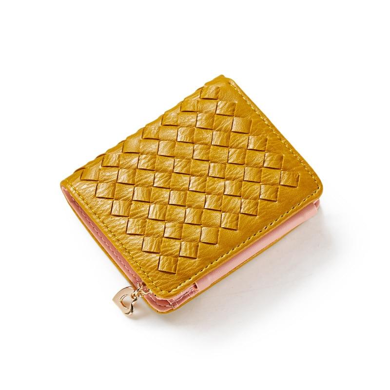 Women Wallet Multifunctional Money Short Style Purse Three Folding Change Closure Bank Card Coin HandBag More Card Slots Huge Ca<br>
