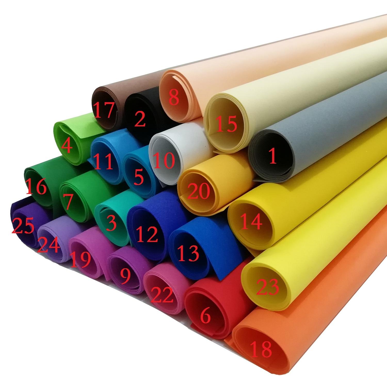 66/hojas Esponja Papel 50/x 50/cm 22/Colores grandes Espuma con corte de papel a mano DIY Papel para manualidades Kindergarten EVA Papel