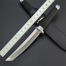 High Quality Cold Steel Hunting Camping Survival Tactical Fixed Blade Knife with leather sheath