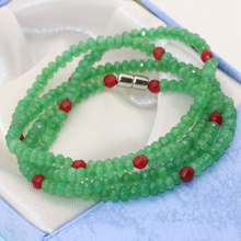 Hot sale 4 rows magnetic clasp green stone aventurine multilayer bracelets 2*4mm faceted abacus beads high quality jewelry B2767