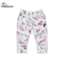 Pudcoco Newborn Kids Baby Girls Clothes Floral Print Long Loose Bottoms Leggings Pants Toddler Trousers Casual Warm Cotton 3-18M(China)