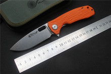 High quality,Maxace Balance folding knife,orange G-10 (Smokewash S35VN), outdoor sports camping hunting hand tools EDC