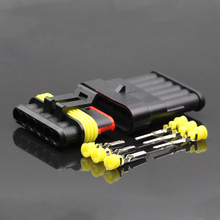 10 Set 6 Pin Waterproof Automotive Connector AMP Cable Wire Socket for Car HID Connector(China)