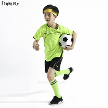 football kids soccer jersey child soccer jerseys 2016 2017 kids soccer set boys custom football jersey uniforms kids youth new(China)