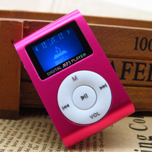 Portable MP3 Music Player With LCD Screen+Mini Clip+Multi-color MP3 Player With TF/SD Card Slot Black Red Green Blue Silver(China)