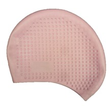whole sale 100PCS high quality massage function rubber Mexicowater-proof Adult swimming cap DL-20(China)