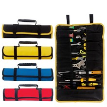 Multi-function Tool box Bag reel type Woodworking Electrician repair canvas portable storage instrument Case(China)