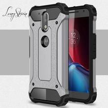 [Long Steven]For Motorola MOTO G4 Case Unique Armor Anti-Knock Attached Dust Cap Cover For MOTO G4 Plus Case G 4 Plus Fundas(China)