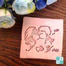 Free shipping Love You Kissing Couple Boy Girl  Soap Handmade Soap Mini DIY Soap Stamp Soap Chapter 5cm*5cm