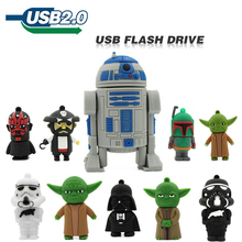 Usb Flash Drive Pendrive 4GB 8GB 16GB 32GB Memory Stick New star war funny robot Catoon Pen Drive flash card U Disk Cute Gift(China)