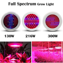 130W/300W UFO High Power Plant lamp AC85~265V Full Spectrum LED Greenhouse Plants Hydroponics Flower Panel Grow Light