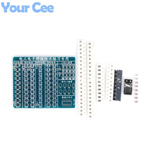 Electronic 2014 New DIY Kit SMT SMD Component Welding Practice Board 65*53mm Soldering DIY Kit Electronic Component(China)