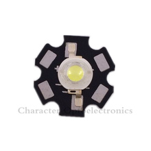 10PCS 1W 3W High Power cool/warm white 3500k 4500k 6500k 10000k 20000k-30000k LED Chip + 20mm star pcb