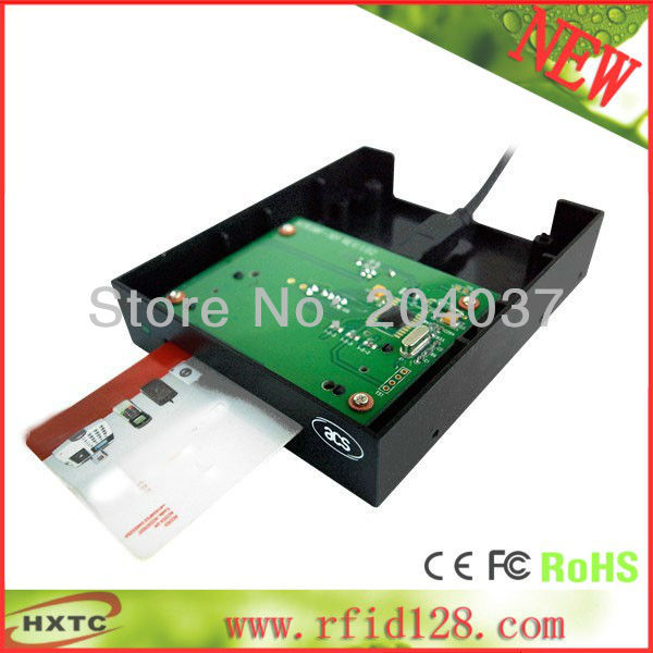 2016  Contact Smart Floppy RFID  Reader Writer # ACR38F Support ISO7816 A,B Card with SDK Kit +2PCS test Card Free Shipping<br><br>Aliexpress