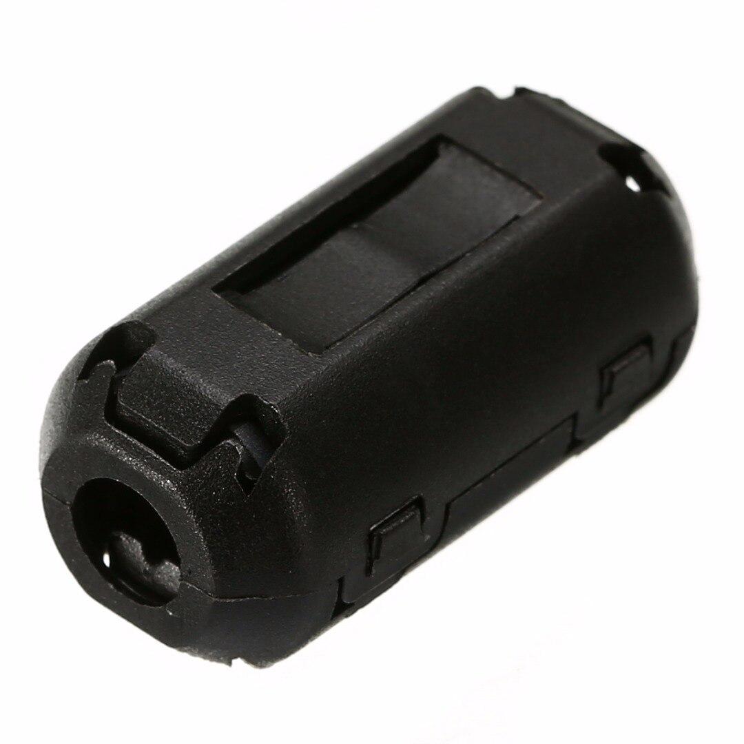 5pcs Black Ferrite Core Cable Filter Nickel-zinc Noise Suppressor EMI RFI Clip Choke Ferrite Filters 3.5mm
