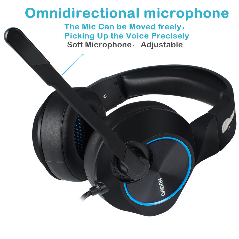 Nubwo N11 PC Gamer Headset USB 7.1 Channel Sound Bass Casque Computer Gaming Headphones with Microphones Led Light (3)
