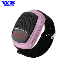 Wireless Bluetooth Speaker Watch,Wrist Speaker Multi-functional Bracelet with MP3 with LED Display Hands-free call Radio B90