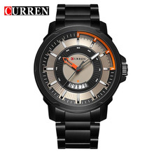 Buy Curren Sport Quartz Watch Fashion Casual Mens Watches Top Brand Luxury Military Wrist Watch Men Army Black Steel Band Clock Man for $15.46 in AliExpress store
