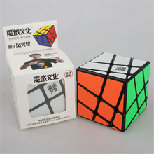 MoYu Crazy Hot Wheel Puzzle Cube Black Color Cube Magic High Quality Toys ABS Plastic Skew Cube Strange-shape Puzzles Cubes