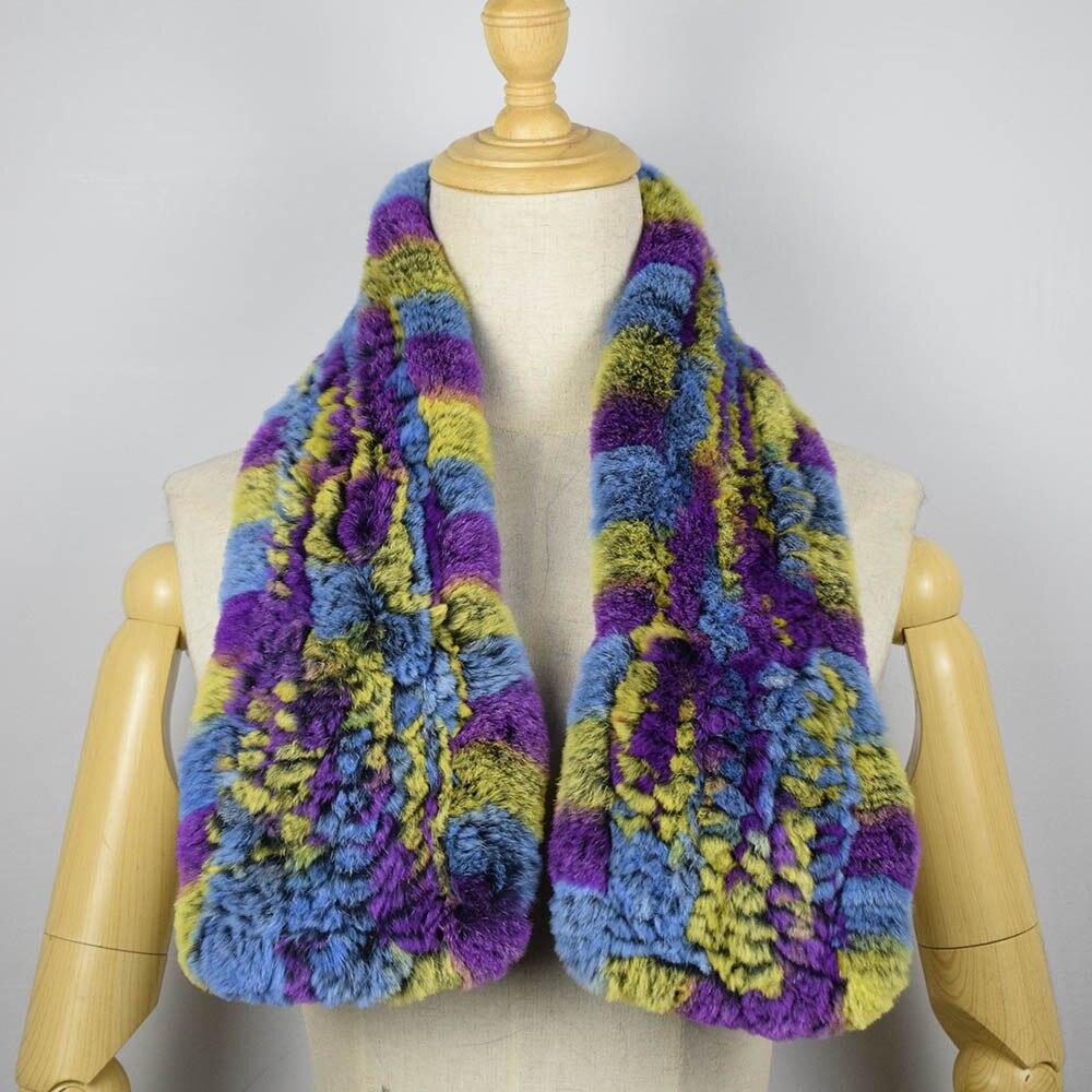 rex rabbit fur scarf short 7