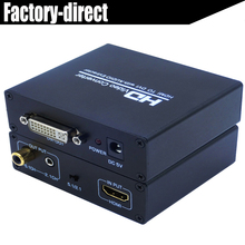 HDMI to DVI audio&video converter splitter HDMI in DVI out with power adapter