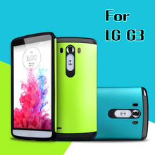 Best Quality Slim Armor Soft TPU And Hard Plastic Combo Case For LG G3 D855 D850 F400 VS985 LS990 Cell Phone LGG3 Back  Case