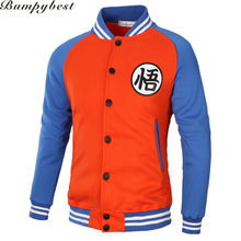 New Japanese Anime Jacket Dragon Ball Goku Varsity Men Women Jacket Fall Casual Kanji Coat Brand Baseball Jackets