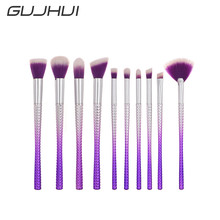 Best Deal New Professional 10 PC Small Waist Makeup Horn Handle Brushes Powder Cosmetic Brush Set
