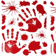 Bloody HAND PRINT Stickers Halloween Decoration Zombie Dead Party Prop Scary Hot