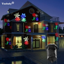 Tanbaby Christmas Laser Projector Lights 10 Replaceable Patterns Outdoor Decorations Party Halloween Patio Stage Lights(China)
