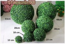 26cm Bonsai plants artificial plastic boxwood ball grass ball for indoor & outdoor decoration Christmas gift 2pcs/lot TONGFENG(China)