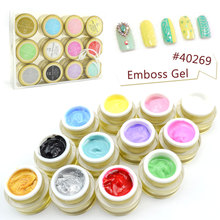 Emboss 3D 4D Painting Gel CANNI Hot Nail Art Design High Quality Salon Product 12 Colors UV LED Soak off Line Drawing Color Gel