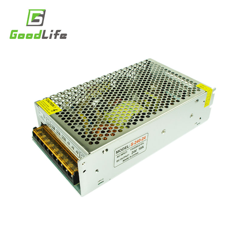 24V 10A 240W 110V-220V Lighting Transformer,High quality LED driver for LED strip power supply,power adapter,Free shipping<br><br>Aliexpress