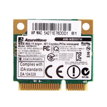 Atheros AR5B225 150Mbps 2.4GHz Wireless Half Mini PCI-E Wifi Wlan Network Card Bluetooth 4.0 802.11b/g/n AW-NB097H for Laptop(China)