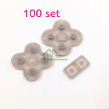 100 set E-house Key Button Conductive Rubber Pads Replacement for DS Lite for NDSL Game Console
