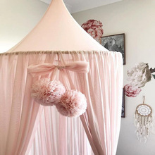 Baby Room Decoration Garland Ball Garland Bunting for Wedding or Party Children's Room Mosquito Net Crib Net Accessories(China)