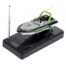 Mini Ready-to-Go RC Boat Radio Electric Remote Control Speedboat with Original Package Children Kids Toys Gift(China)