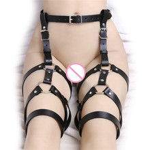Buy 2017 New Leather Women Shackles Toys Female Chastity Belt Leather Harnesses Women Fetish Bondage Adult Sex Toys Woman