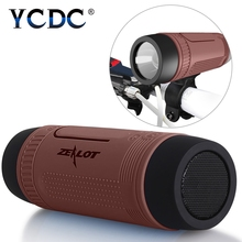 YCDC Waterproof Bluetooth Speaker Wireless Portable Outdoor Speakers LED Flashlight Altavoces Support FM Radio TF Card Slot