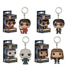 26 patterns Funko POP Harry Potter Keychain Hermione Granger Lord Voldemort Toy Figure Pocket Pop keychain Key Ring Viyl Toys