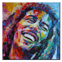xh357 Bob Marley Graffiti Pop Art Oil Painting Face Portrait Print Wall Painting For Living room No Frame