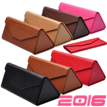 DRESSUUP Cute PU Leather Eyewear Sunglasses Box Bag Floding Sunglass Case Hard Eye Glass Eyeglass Box For Glasses Brand(China)